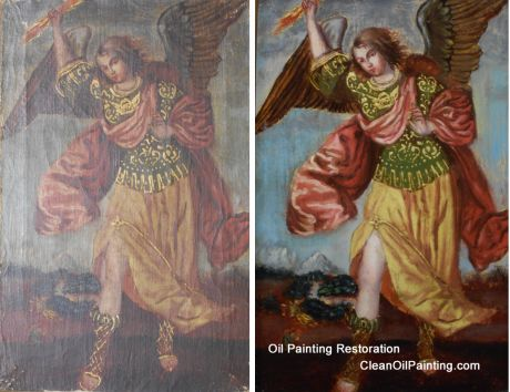 Antique Oil Painting Cleaning & Repair